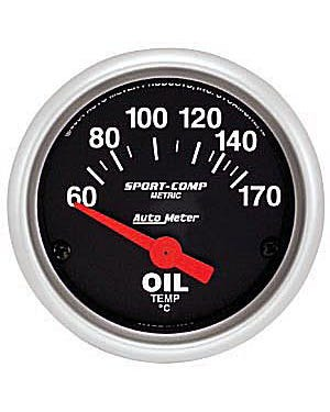 Autometer Sport Comp Oil Temperature Gauge 60-150C  with Sender 2 1/16 Inch