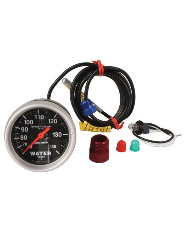Autometer, Sport Comp, Kühlmitteltemperaturanzeige, 60-138 C, mit Geber, 2 5/8 Zoll