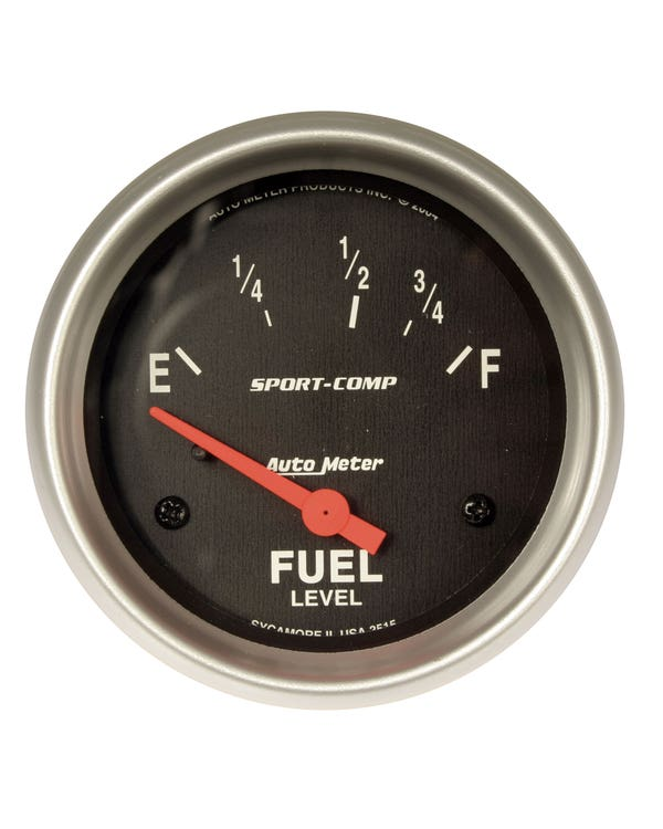 Autometer Sport Comp Fuel Gauge for Beetle Sender 2 5/8 Inch