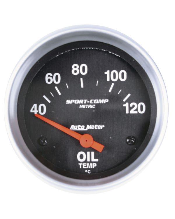 Autometer Sport Comp Oil Temperature Gauge 40-120C  with Sender 2 5/8 Inch