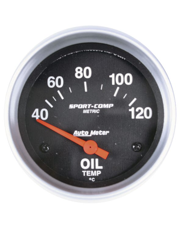 Autometer Sport Comp Oil Temperature Gauge 40-120C  with Sender 2 5/8 Inch
