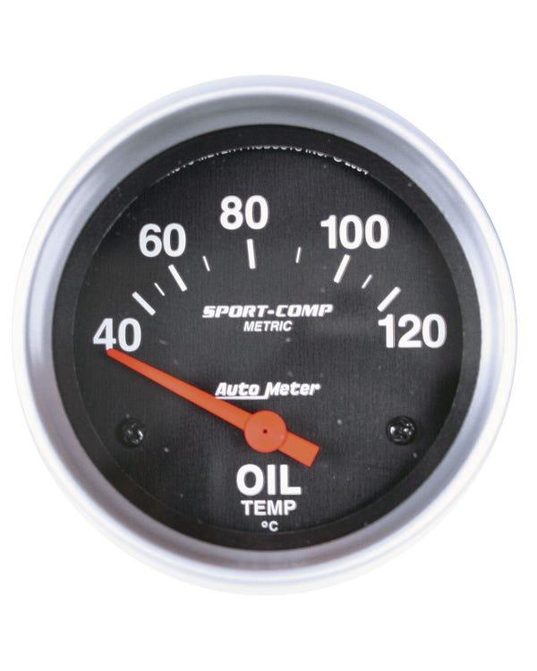 Autometer, Sport Comp, Öltemperaturanzeige, 40-120C, mit Geber, 2 5/8 Zoll