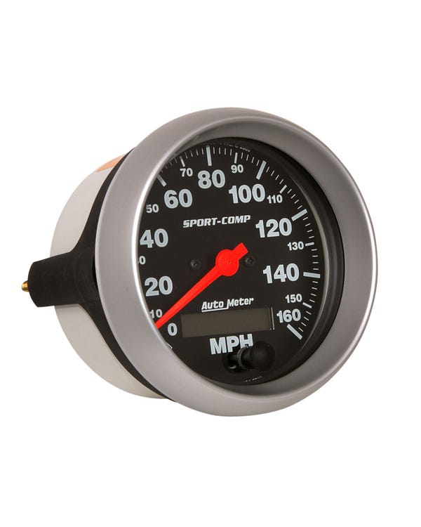 Autometer Speedometer, 3 3/8'' Diameter Sport Comp 0-160mph,Analog/Electrical