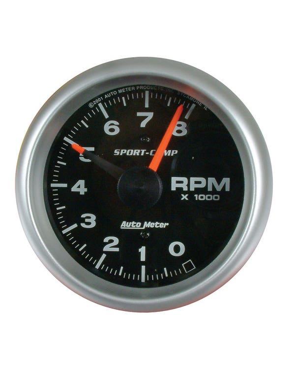 Autometer, Sport Comp, Tacho, 8000 U/min., 3 3/8 Zoll