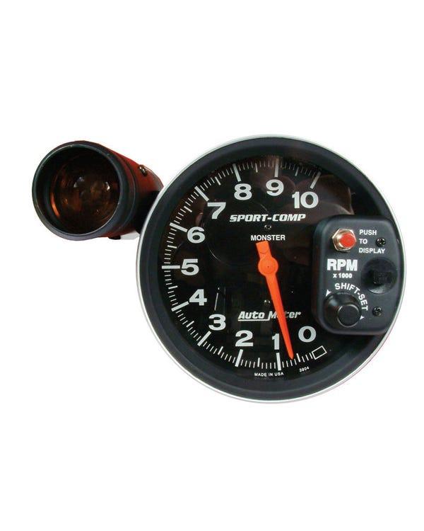 Autometer Sport Comp Drehzahlmesser, 10000RPM,  5'' mit Shift-Light