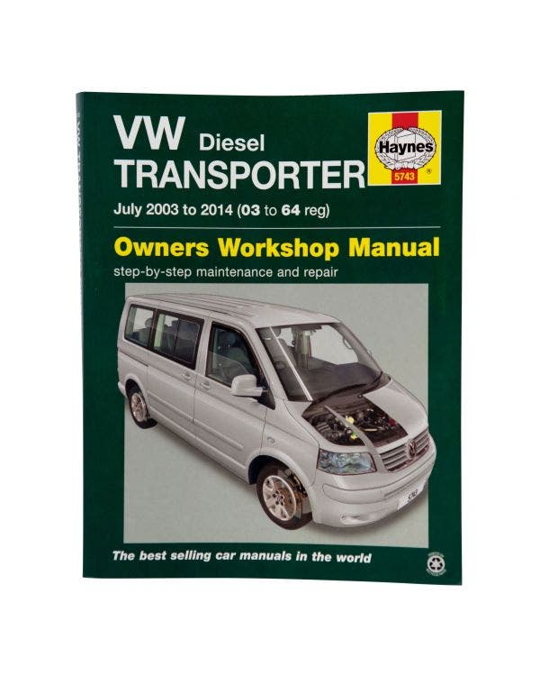 Workshop Manual for Diesel T5 Transporters from 03-15