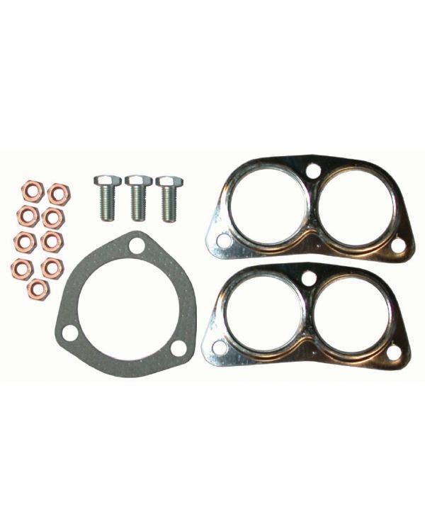 Exhaust kit, silencer / T-pipe / fitting kit, T2 1.7-2.0