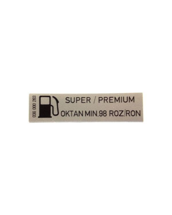 Sticker Super/Premium Unleaded Fuel 60x15mm
