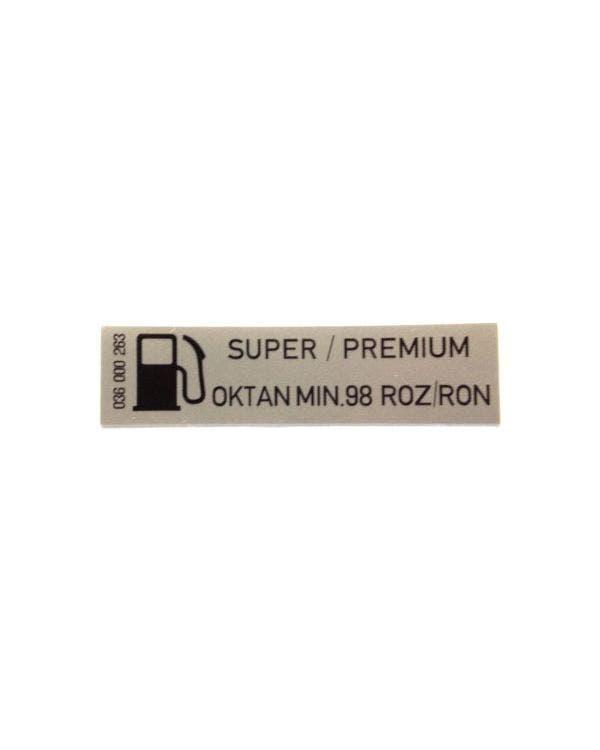 """Aufkleber """"Super/Premium Bleifreies Benzin"""", 60x15mm"""