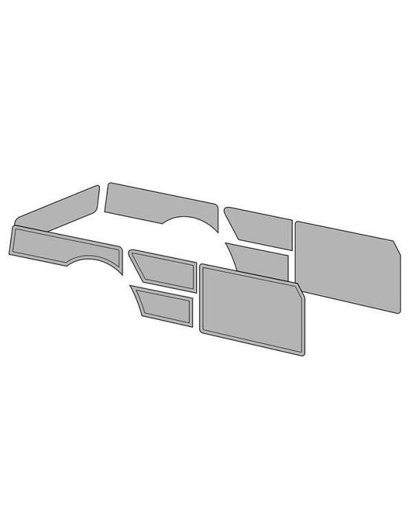 Door Card Set without Door Pockets for Squareback Model in Single Colour Vinyl
