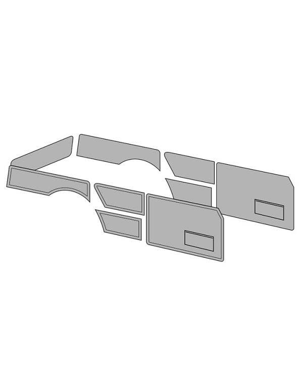 Door Card Set with Door Pockets for Squareback in Single Colour Vinyl