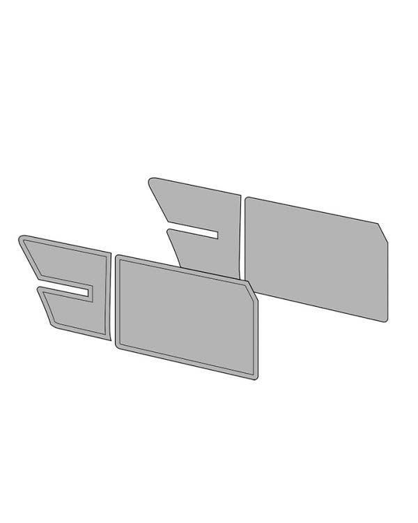 Door Card Set without Door Pockets for Notchback in Single Colour Vinyl