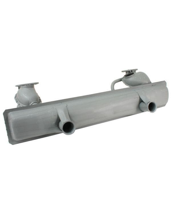 Exhaust Silencer with Twin Hotspot 1300cc