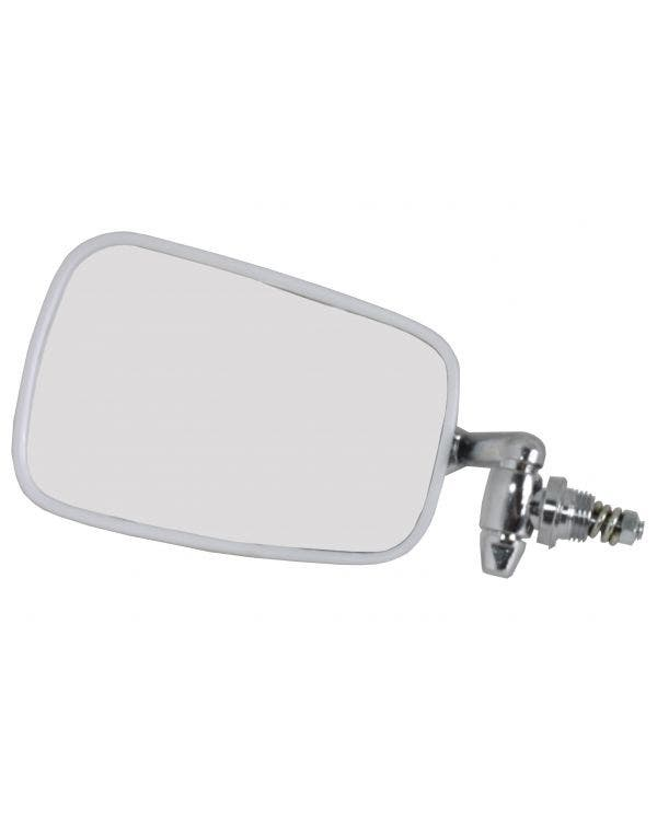 Door Mirror with Chrome Arm, Stainless Steel Head and Black Trim Left