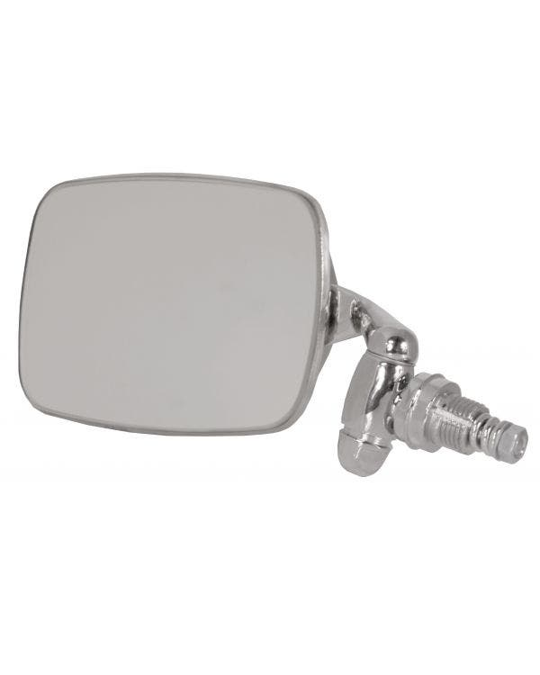 Door Mirror with a Chrome Arm and Stainless Steel Head Left