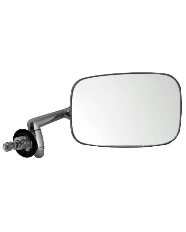 Door Mirror with a Chrome Arm and Stainless Head Right for Right Hand Drive
