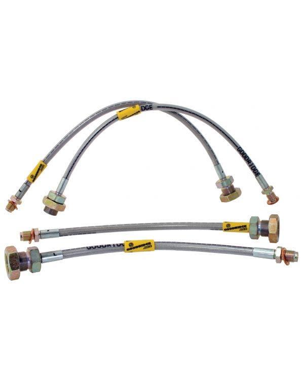 Goodridge Braided Brake Hose Kit for Rotor Brakes and Independent Rear Suspension
