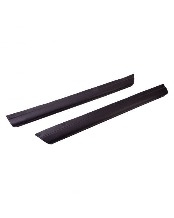 Door Top Covers Black Pair