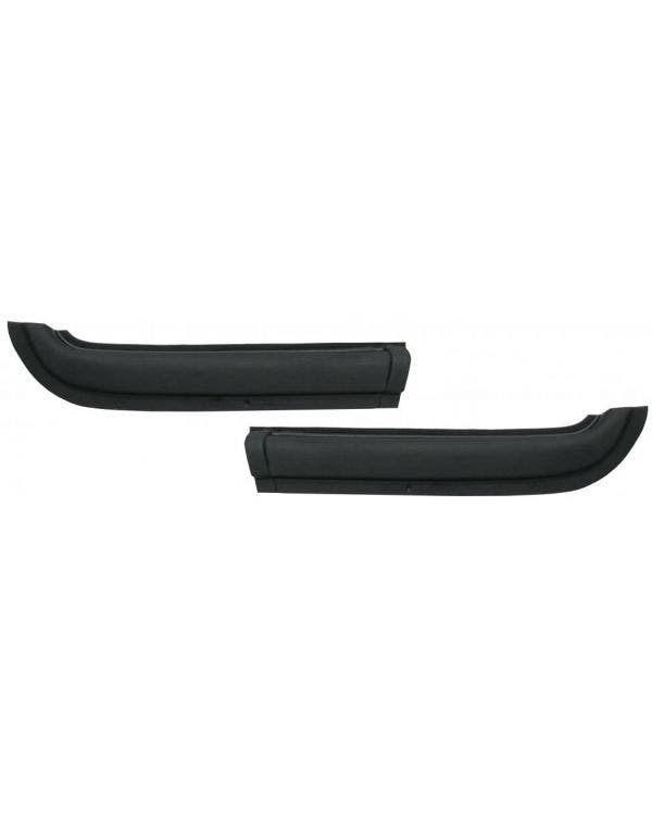 Rear Quarter Top Covers Black Pair Coupe Only