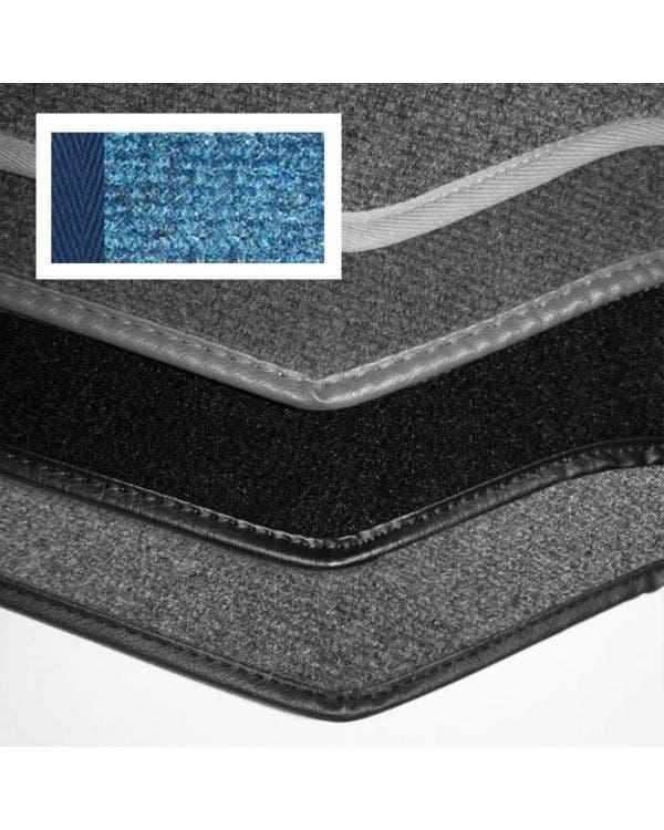 Carpet Set for Left Hand Drive Cabriolet Blue