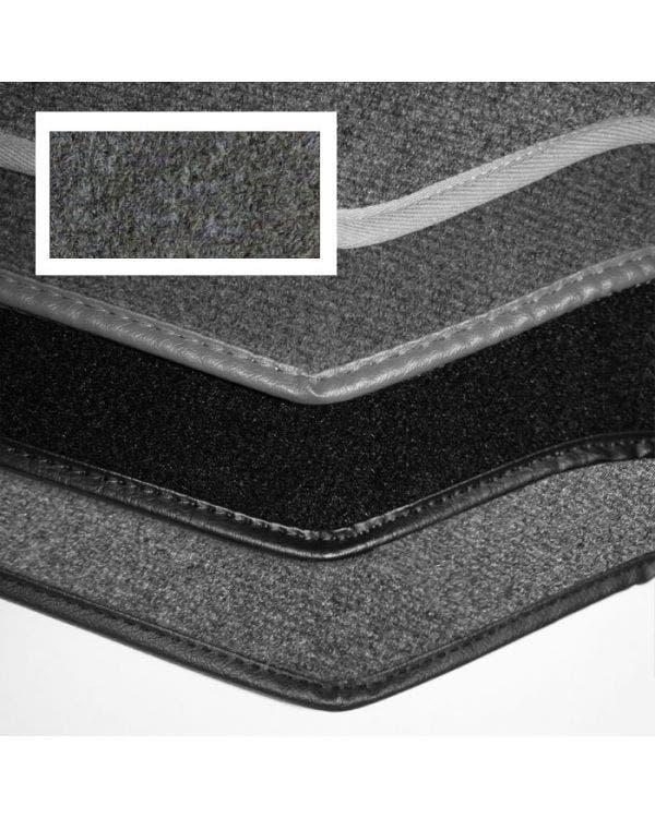 Carpet Set for Left Hand Drive Cabriolet Dark Grey Perlon