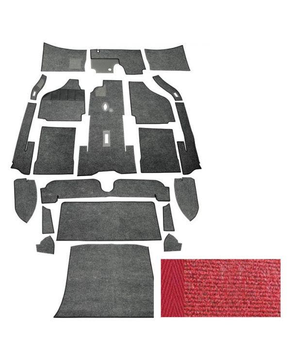 Carpet Set for Left Hand Drive Coupe Red