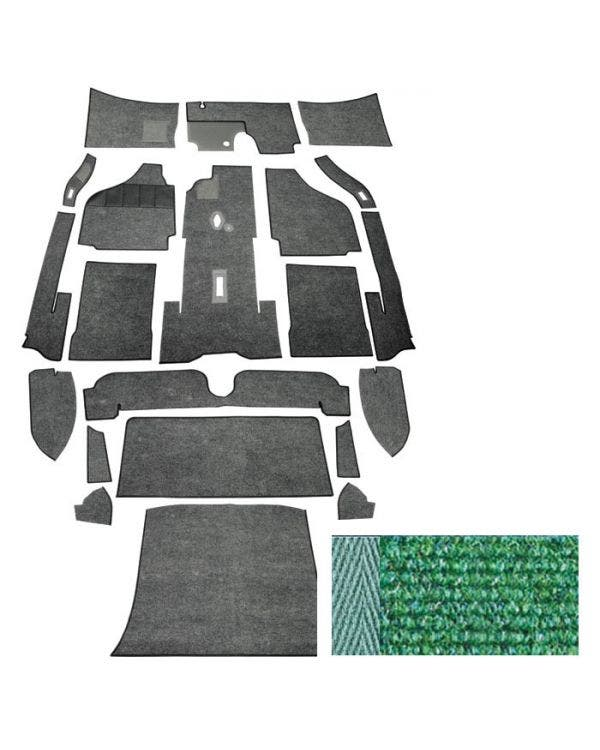 Carpet Set for Left Hand Drive Coupe Green