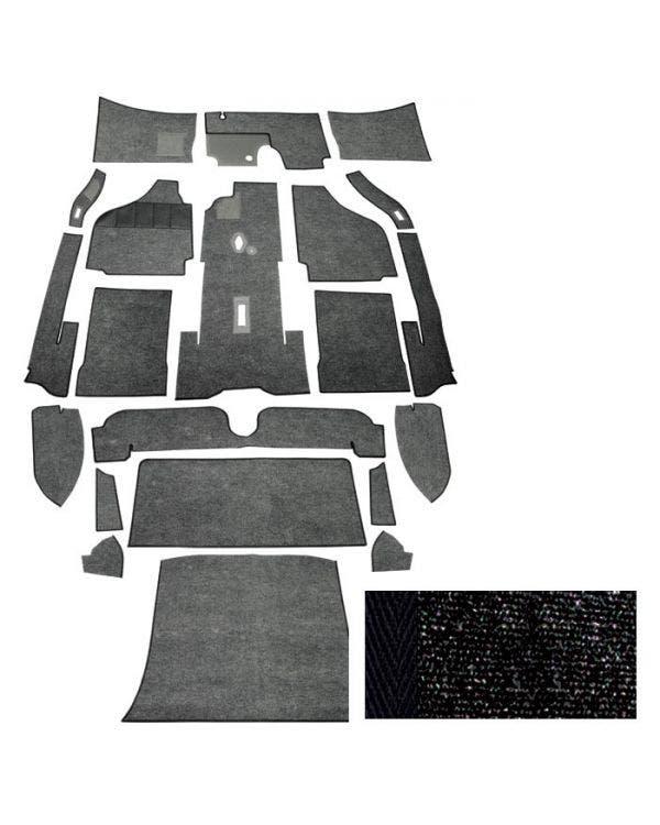 Carpet Set for Left Hand Drive Coupe Black