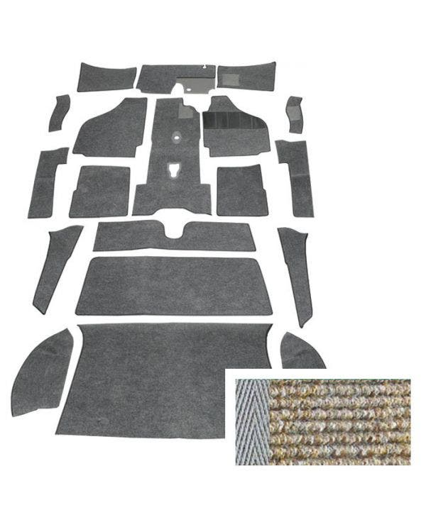 Carpet Set for Right Hand Drive Coupe Oatmeal