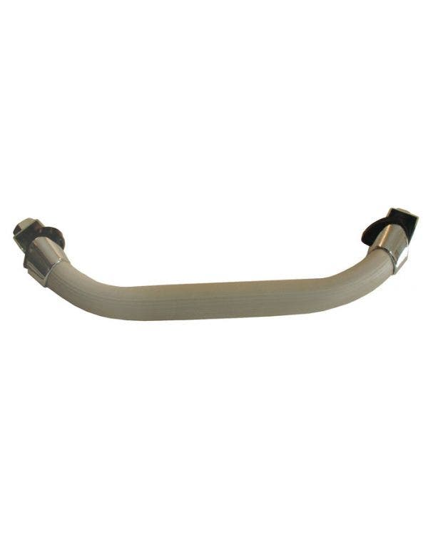 Dashboard Grab Handle Silver Beige with Chrome Mounts