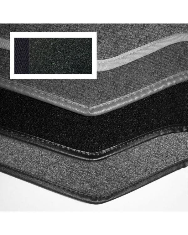 Carpet Set for Right Hand Drive Cabriolet Black