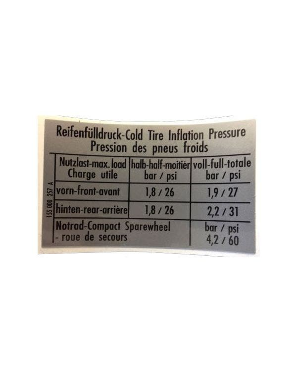 Sticker tire Pressure GTI 68x41mm