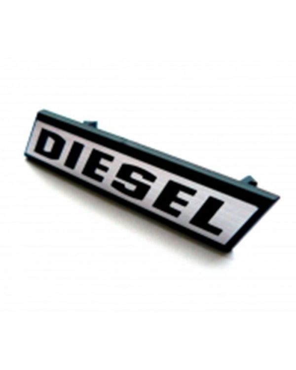 Grille Badge - Diesel Silver Text with Black Surround