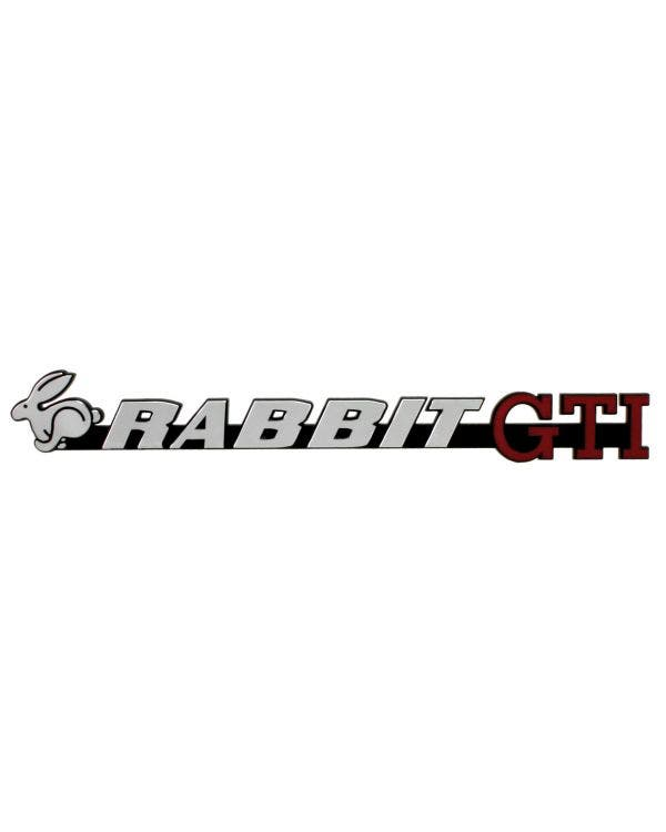 Tailgate Badge - Rabbit GTI Script