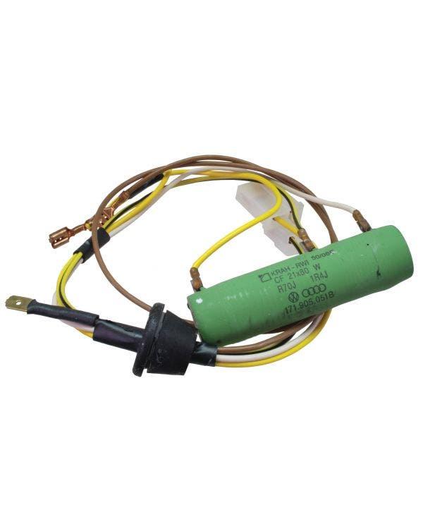 Radiator Fan Motor Resistor & Harness, Mk1 Golf / Jetta 76-83