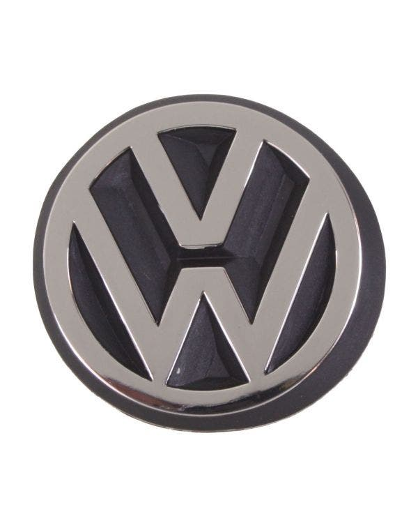 VW Emblem for Rear Panel, Finshed in Satin Silver