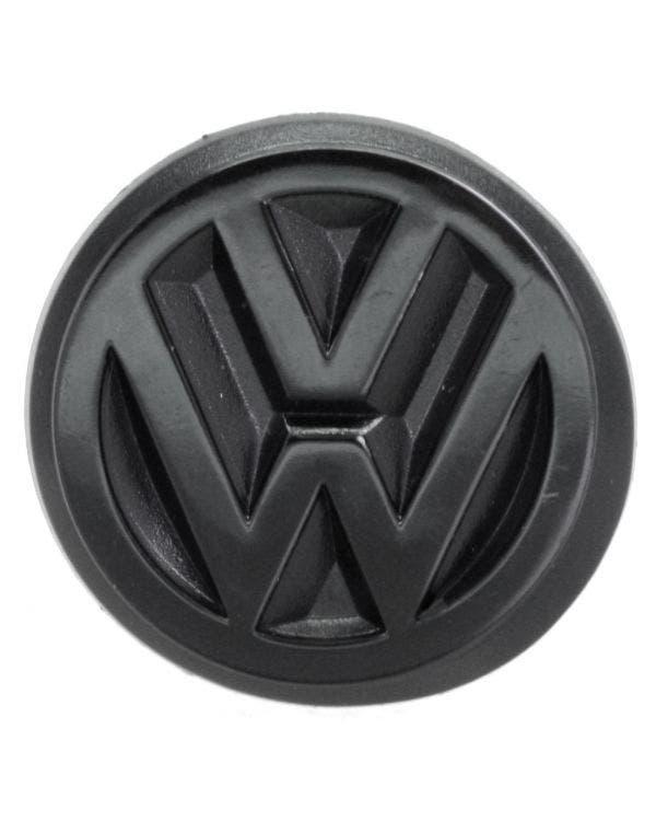 VW Emblem, Heckblech, schwarz