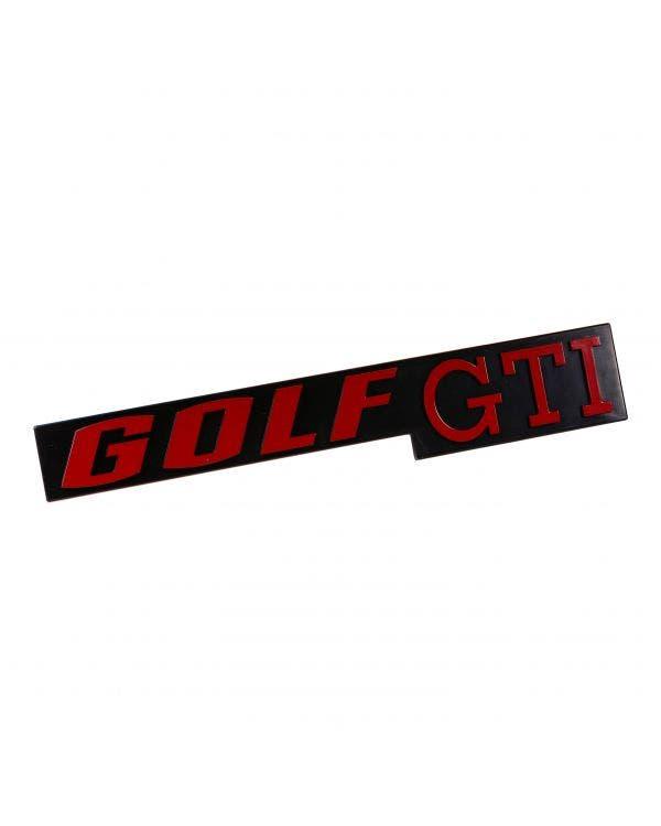 Schriftzug ''Golf GTI'', rot