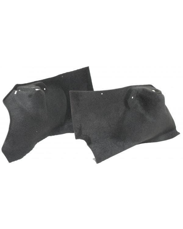 Teppichsatz, hintere Radkastenverkleidung, Schwarz