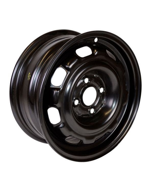 14'' Steel Wheel in Rallye Black 6J ET45 4X100
