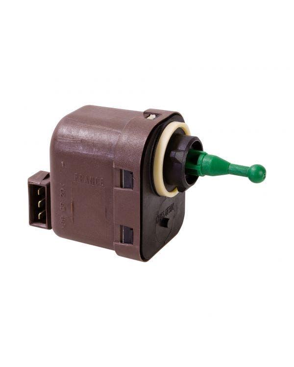 Headlight range control motor