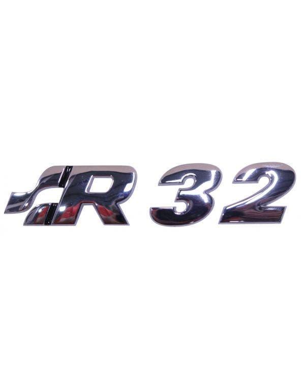 R32 Rear Badge