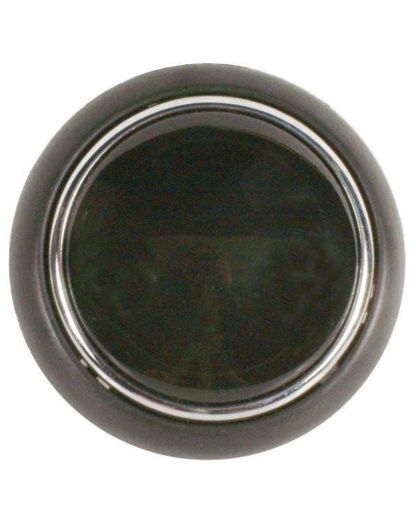 Horn Push Black Plastic'' with Chrome Rim