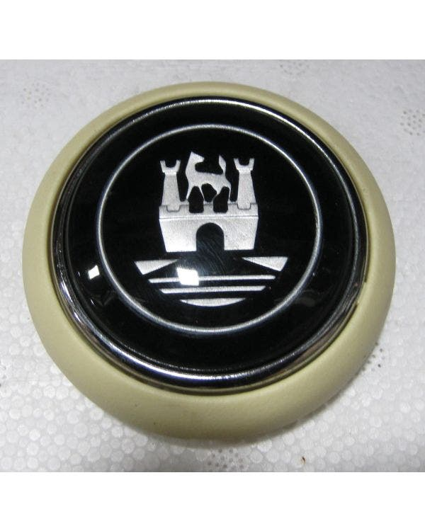 Horn Push with Ivory and Silver Wolfsburg Crest