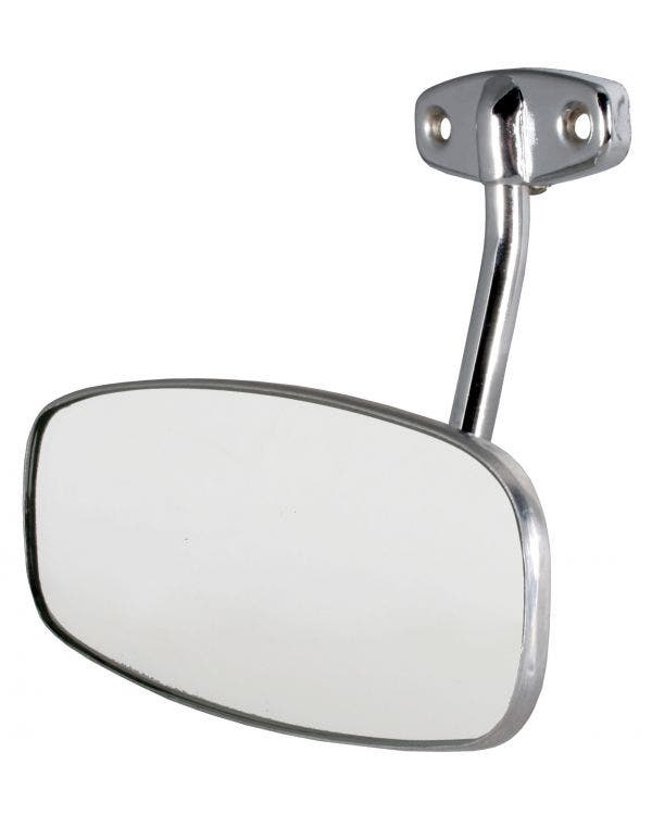 Interior Rear View Mirror with Chrome Arm and Stainless Steel Head