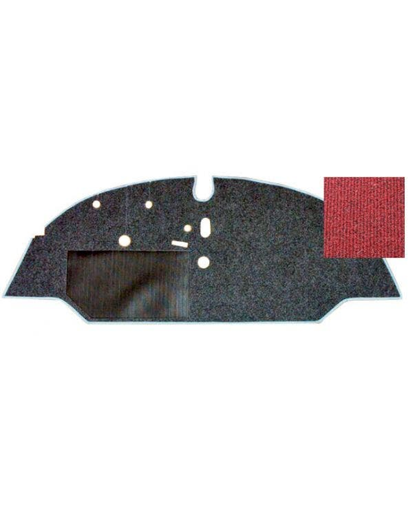Cab Floor Carpet for Left Hand Drive Red