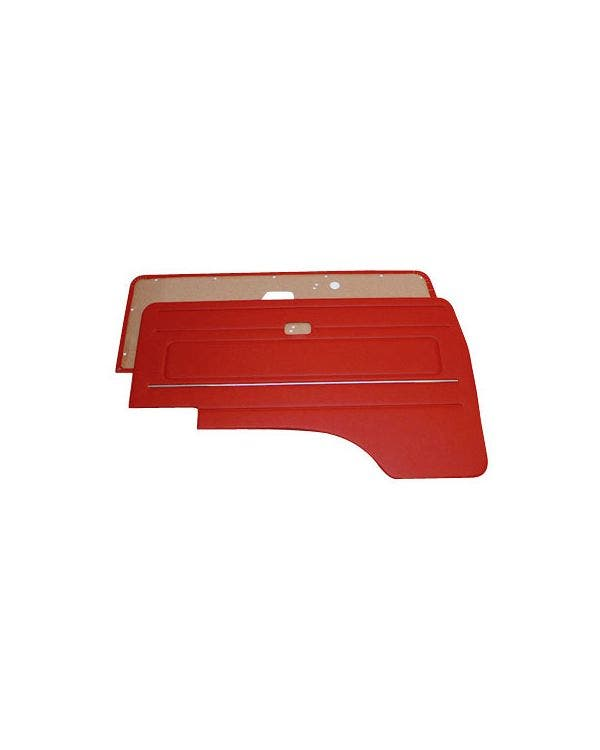 Cab Door Panel Kit with Chrome Strip Pair