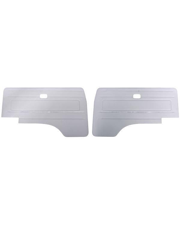 Cab Door Panels with Trim in Dove Grey Vinyl
