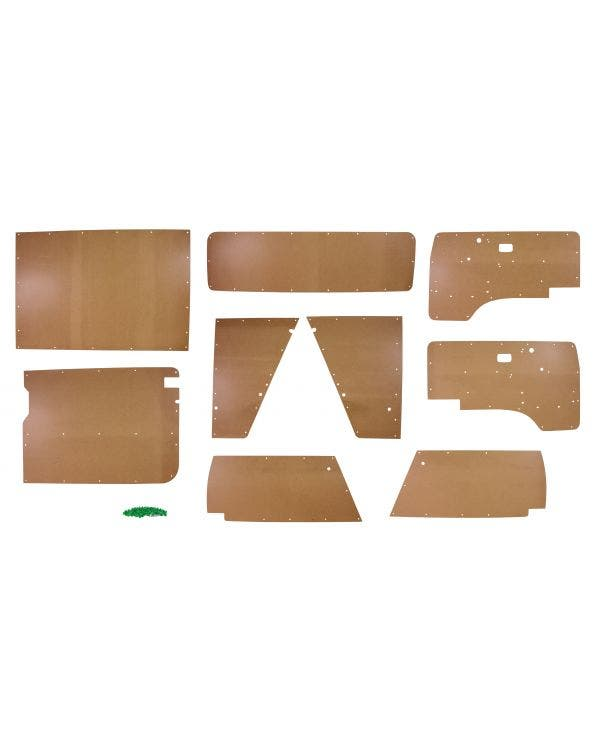 9 Piece Interior Bare Wood Panel  Kit for Left Hand Drive