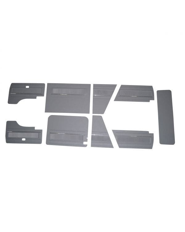 9 Piece Interior Panel Kit with Velour Insert and Chrome Strips for Left Hand Drive